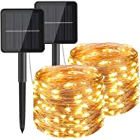 Hepside Guirnaldas Luces Exterior Solar, [2 Pack] Luces Solares LED Exterior Jardin 12m 120 LED 8 Modos Guirnalda Solar…