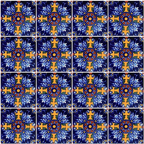 COLOR Y TRADICI N 40 Mexican Talavera Tiles Hand Painted 6 x6 Stairs Backsplash