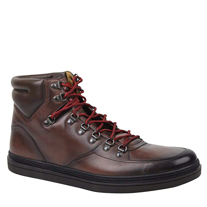 c80c48a50ea Amazon.com  Gucci Hi top Shaded Brown Leather Sneakers Boots 368496 2140  (11 G   11.5 US)  Shoes