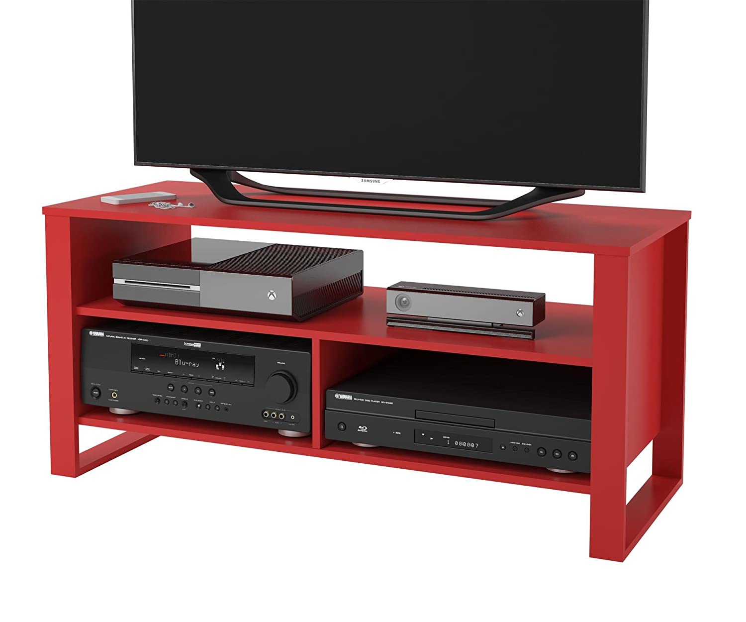 amazoncom altra reese  tv stand ruby red kitchen  dining -