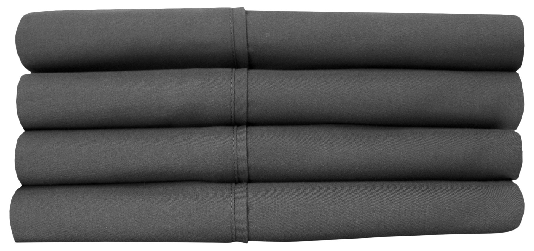 Sweet Home Collection Quality Deep Pocket Bed Sheet Set-2 Extra Pillow Cases, Great Value, Twin X-Large, Gray, 4 Piece