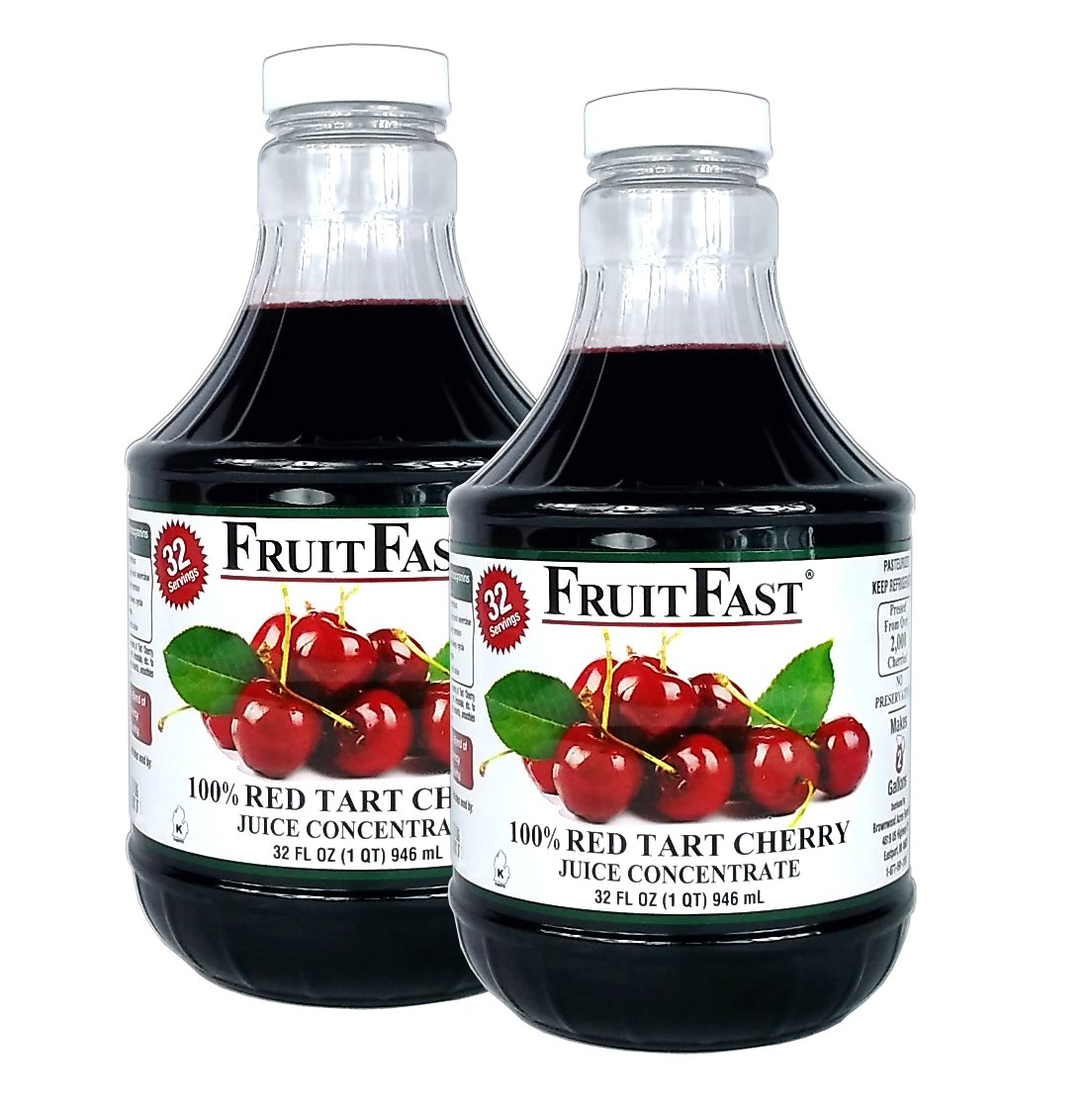 100% Red Tart Cherry Juice Concentrate by FruitFast | Helps support healthy joint function (64 Ounce)