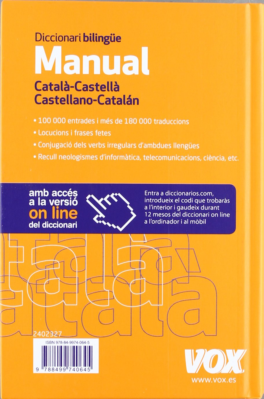 Diccionari Manual Catala Castella Castellano Catalan
