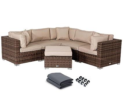Amazon.com: Stellahome - Juego de muebles de mimbre para ...