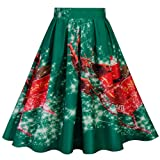 WOCACHI Final Clear Out Christmas Skirts Womens