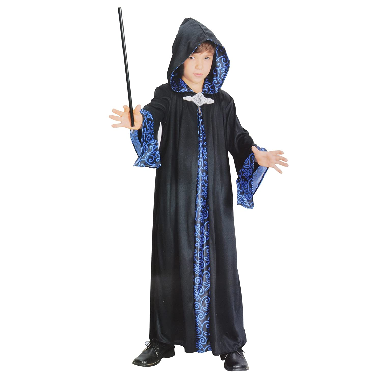 Halloween Costumes Witch Wizard Cloak Robe for Kids Boys Girls