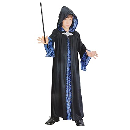 amazon com large black childrens wizard robe toys games