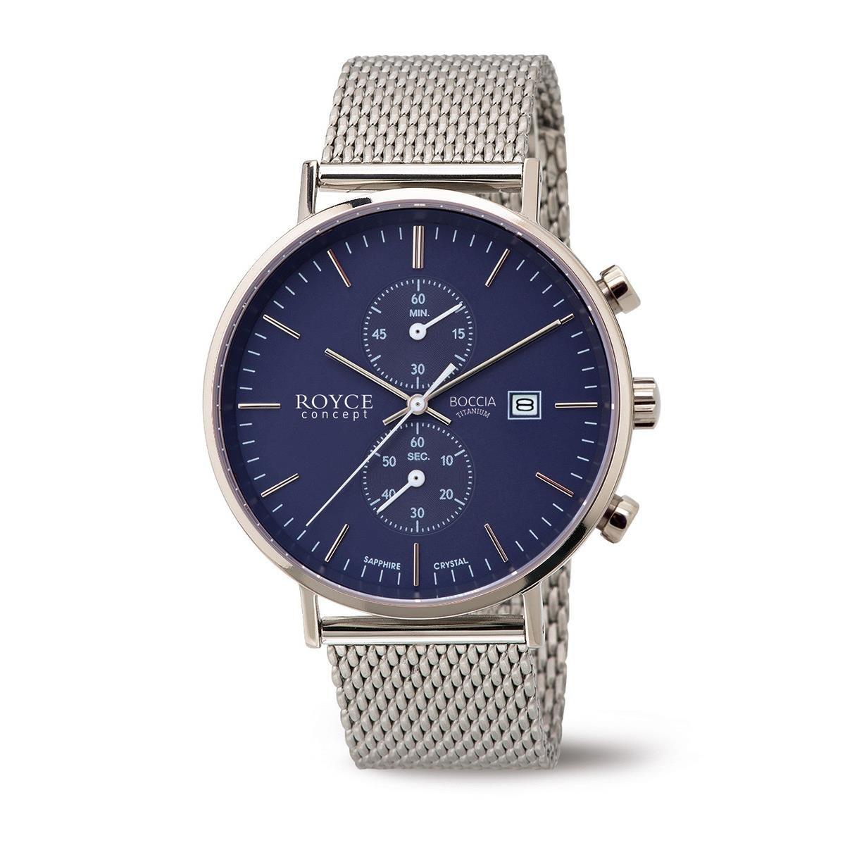 Boccia Reloj Digital para Hombre de Cuarzo con Correa en Acero Inoxidable 3752-05