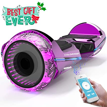 COLORWAY CX911 Advanced Premium Hover Scooter Board SUV 6.5- Patinete Eléctrico Auto-Equilibrio con Bluetooth y App- Ruedas Total Led - Dual Motor - ...
