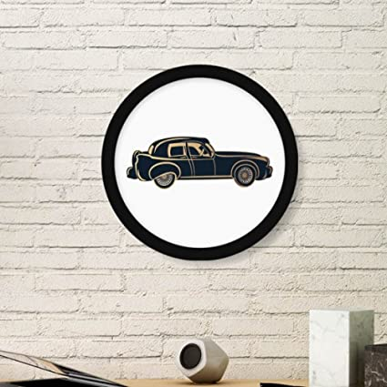 Amazon.com: Black Classic Cars Pattern Silhouette Art Painting ...