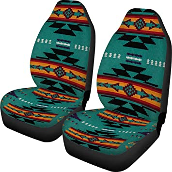 FKELYI Aztec Tribal Car Seat Cover 2 Piece//Set Saddle Blanket Carseat Universal Fit for Vehicle Sedan SUV and Jeep