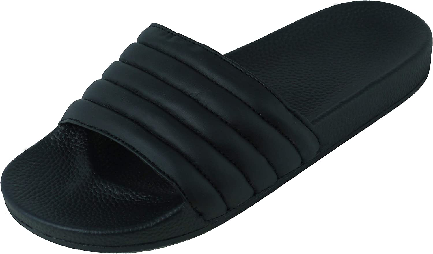 BeMeesh Womens Ladies Quilted Puffa Fabric Sliders Sandals Mules