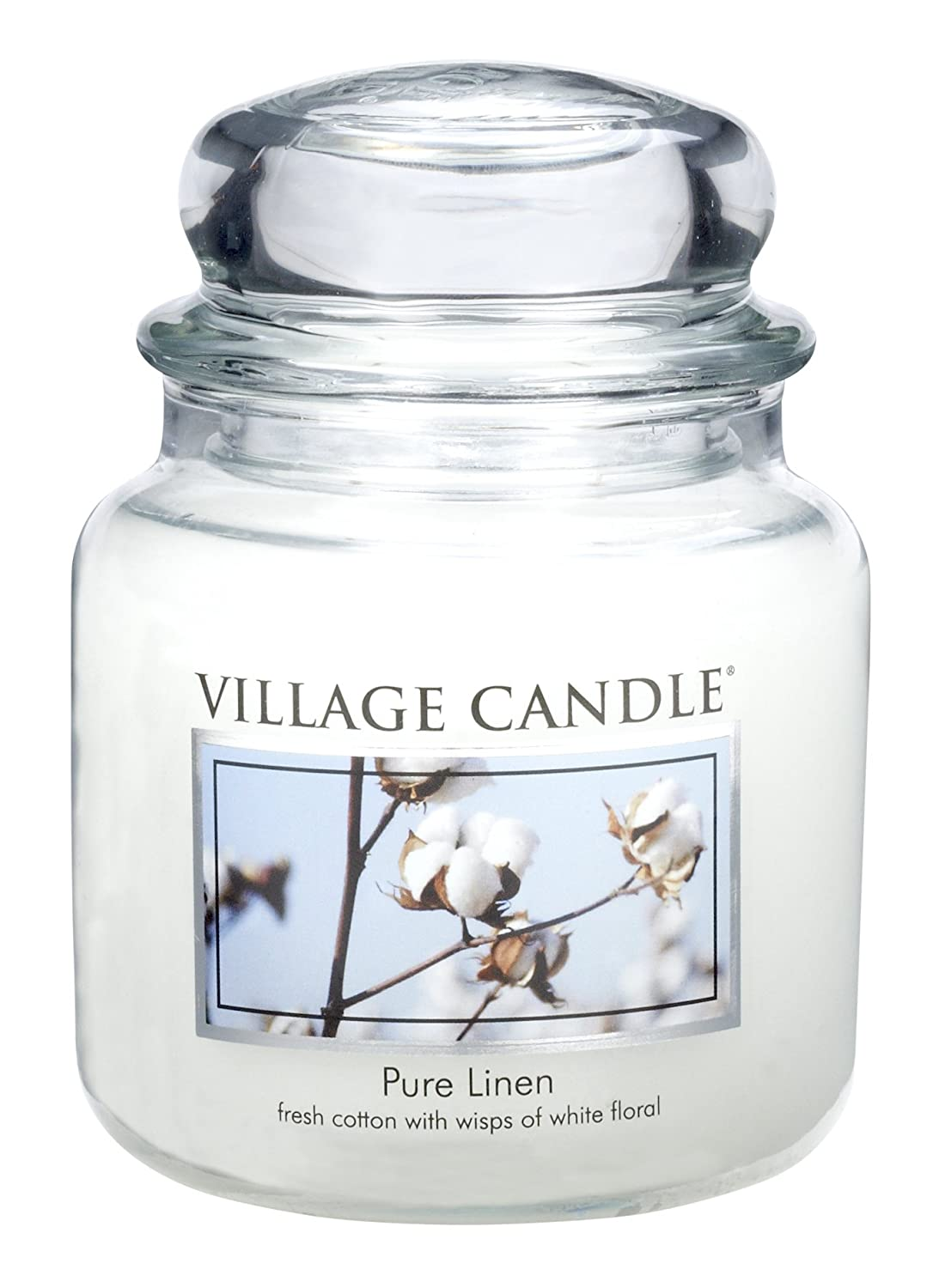 Village Candle Pure Linen 11 oz Glass Jar Scented Candle, Small 106011339