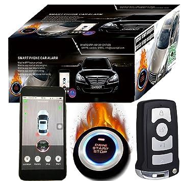 Smartphone GSM y GPS Alarma de coche compatible con iOS y Andriod teléfono Auto central Lock