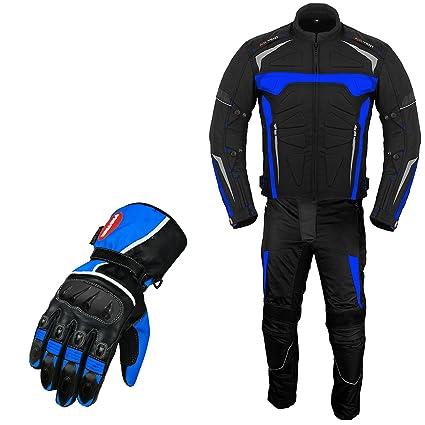 VASTER Traje de moto armadura con guantes a juego para ...