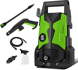 TOOLUCK Electric Pressure Washer 3000 PSI, 2.0GPM 1700W Electric Power Washer with Rotating Nozzle, Portable High Pressure Washer, Cleaner Machine for Cars/Fences/Garden/Patios/Pool (Green)
