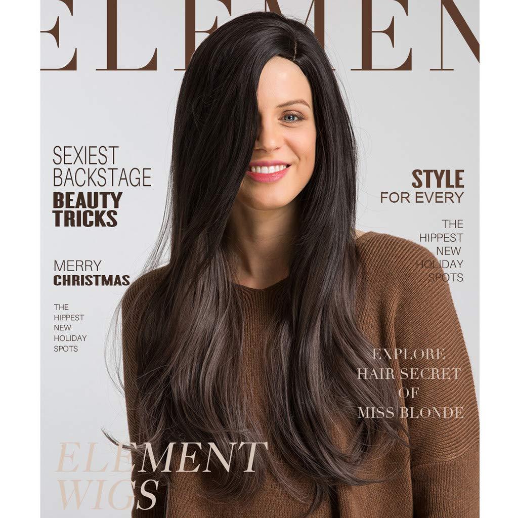 Modaworld Pelucas de pelo largo sexy de mujer Peluca de olas ...