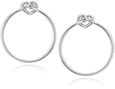 8f6aa2512 Amazon.com: Kate Spade New York Women's Loves Me Knot Hoops Silver One  Size: Jewelry