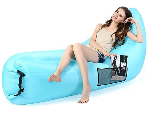 5 opinioni per Materassino gonfiabile da mare,Eocusun Comodo divano autogonfiabile in nylon