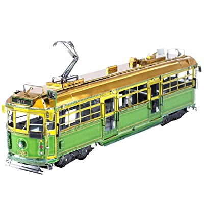 Fascinations Metal Earth Melbourne W-Class Tram 3D Metal Model Kit: Toys & Games