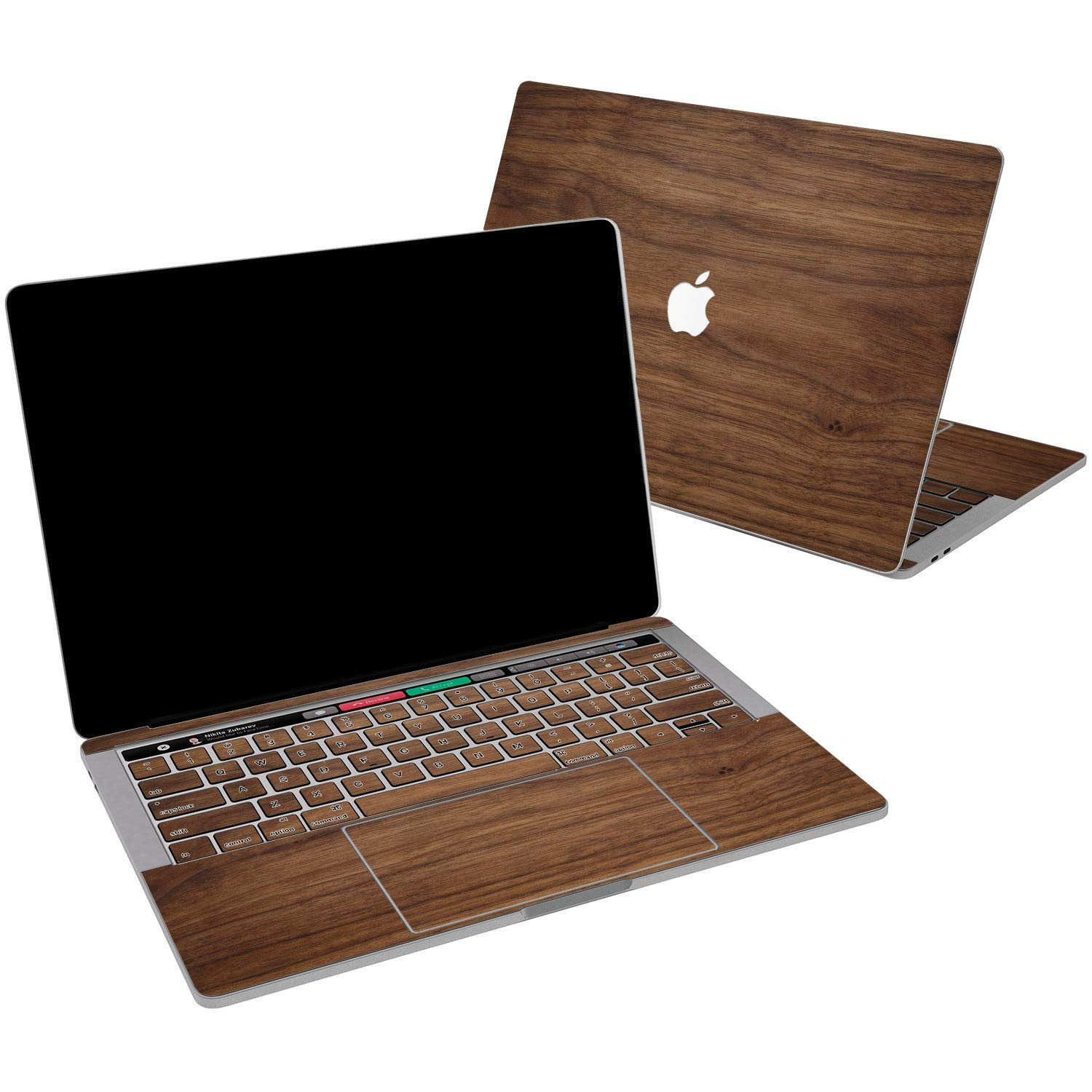 Lex Altern Vinyl Skin for MacBook Air 13 inch Mac Pro 15 Retina 12 11 2019 2018 2017 2016 2015 Walnut Pattern Wood Real Natural Elegant Men Print Girl Touch Bar Cover Keyboard Decal Sticker Top