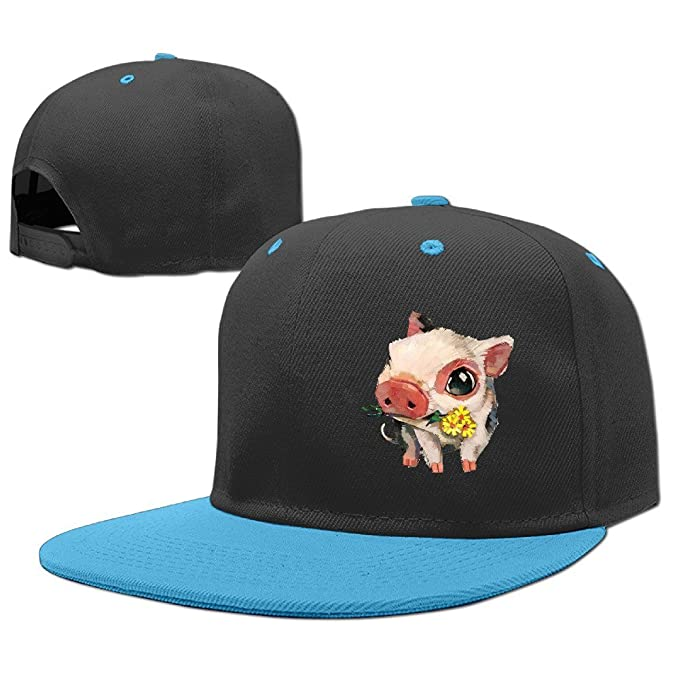 4f5186b2f16 HuiHuang Kids Cute Pig Watercolor Adjustable Hip Hop Baseball Hat Toddler Cap  Custom Cap for Children  Amazon.ca  Clothing   Accessories