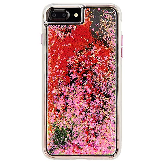 wholesale dealer 366f0 96754 Case-Mate iPhone 8 Plus Case - GLOW WATERFALL - Glow in The Dark Cascading  Liquid Glitter - Protective Design for Apple iPhone 8 Plus - Pink Glow