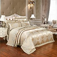 Duvet cover Quilted 4 Pieces Bedspread Modern Jacquard Luxury Comforter Bedding Set Includes 1 Bedspread 1 Sheets 2 Pillow Cases,Double King And Super King Size