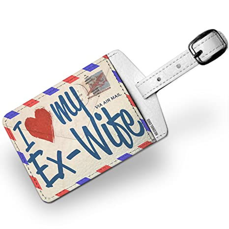 Amazon com | Luggage Tag I Love my Ex-Wife, Vintage Letter