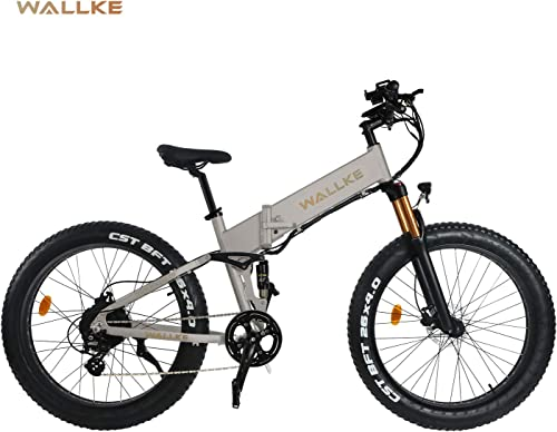 W Wallke X3 POR 26-inch Fat Tire Folding Electric Bike 48V14AH Samsung Lithium Battery Adult Auxiliary Bike 750W Mountain Snow E-Bike