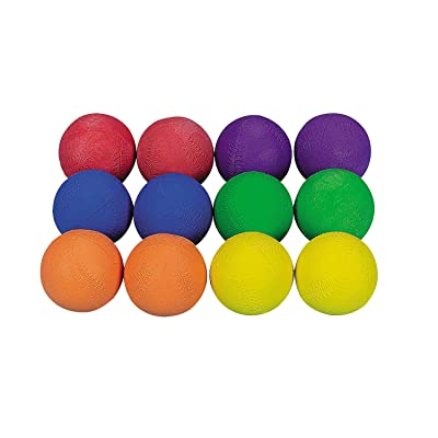 Fun Express - Cool Colorful Rubber Baseballs 12pcs - Toys - Balls - Playground Balls - 12 Pieces: Toys & Games