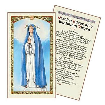Amazon.com: Oracion a La Santisima Virgen Del Pozo Tarjeta ...