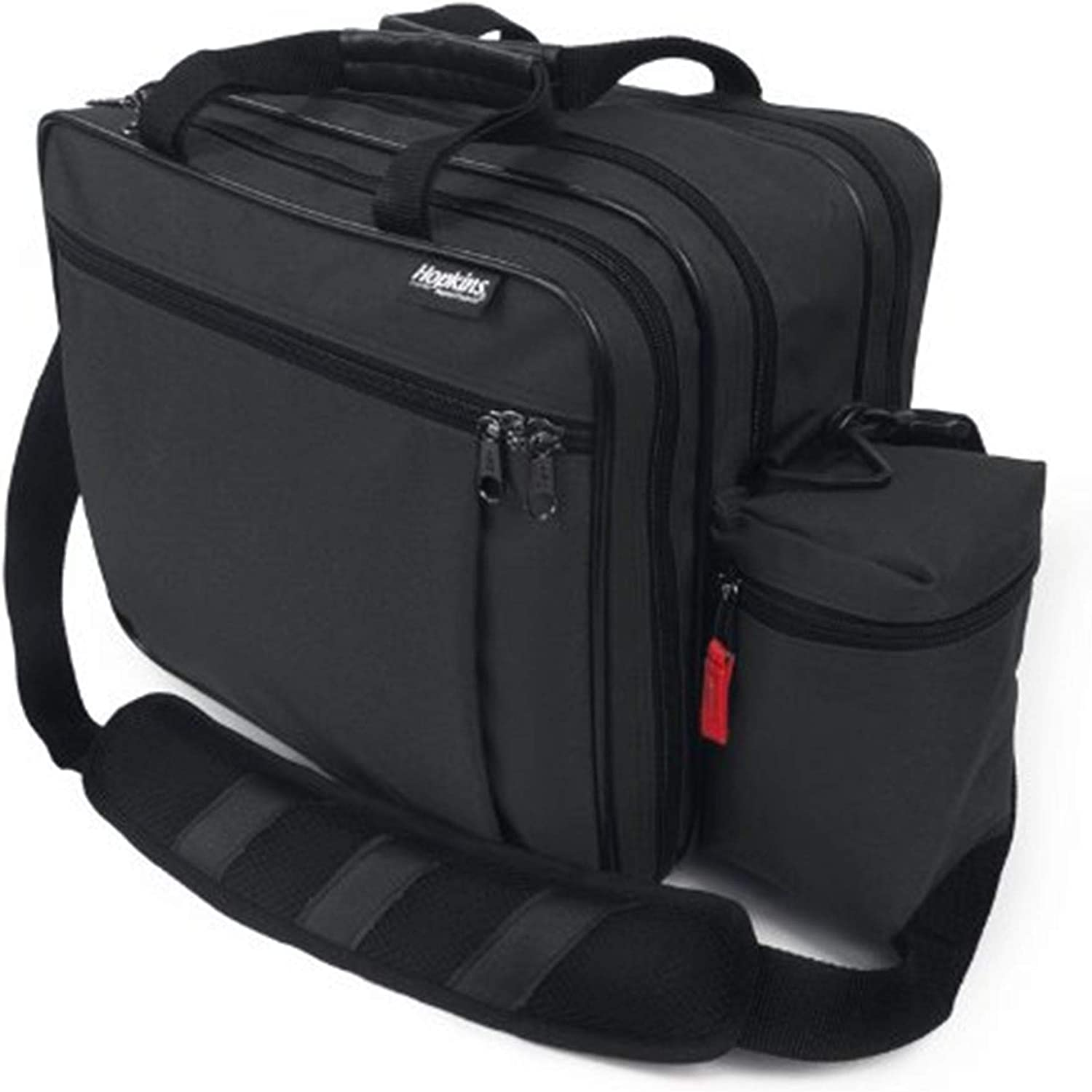 Hopkins Medical Products EZ View Medical Bag, Latex Free, Twenty Zippered Pockets, Lockable File Pocket, 600D Waterproof Polyester, Multiple Colors, 14 Inch x 11.75 Inch x 8 Inch, Black