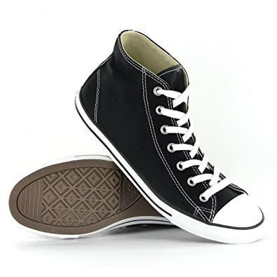 fcdb0a564b7b62 Converse CT Dainty Mid Black Womens Trainers Size 7 UK  Amazon.co.uk ...