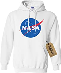 23f86042da4f4d NuffSaid NASA Meatball Logo Worm Hooded Sweatshirt Sweater Pullover - Unisex  Hoodie
