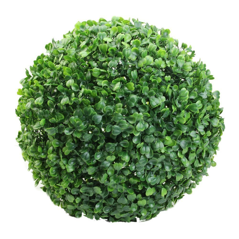 Balanced Life363 The Artificial Topiary Greenery Panels Box Wood Ball UV Protected Hanging Ornaments, Lush Green, Ball-shaped Decoration, Faux Boxwood Leaves, Reproduction, Plastic by Balanced Life363 (Image #1)