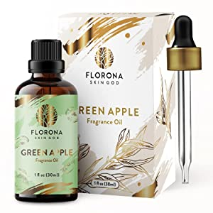 Green Apple Fragrance Oil - Premium Grade Scented Oil (30ml) by FLORONA for Diffusers, Soap Making, Candles, Lotion, Home Scents, Bath Bombs, Slime -1oz