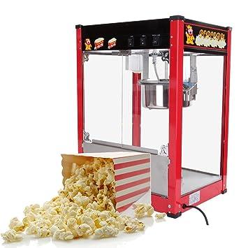 iglobalbuy Premium 8oz Comercial Popcorn Maker Popper Palomitero 1370 W 1/2 (Pan/min) Uso Comercial: Amazon.es: Hogar