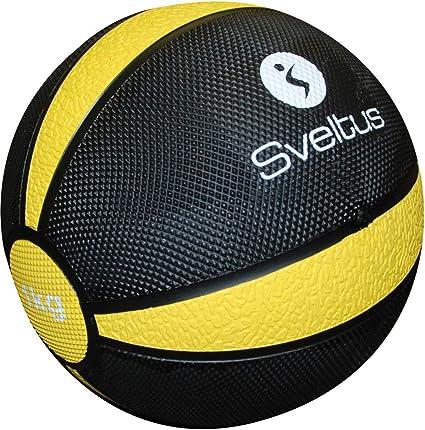 Sveltus - Balón Medicinal (1 kg), Color Negro y Amarillo: Amazon ...