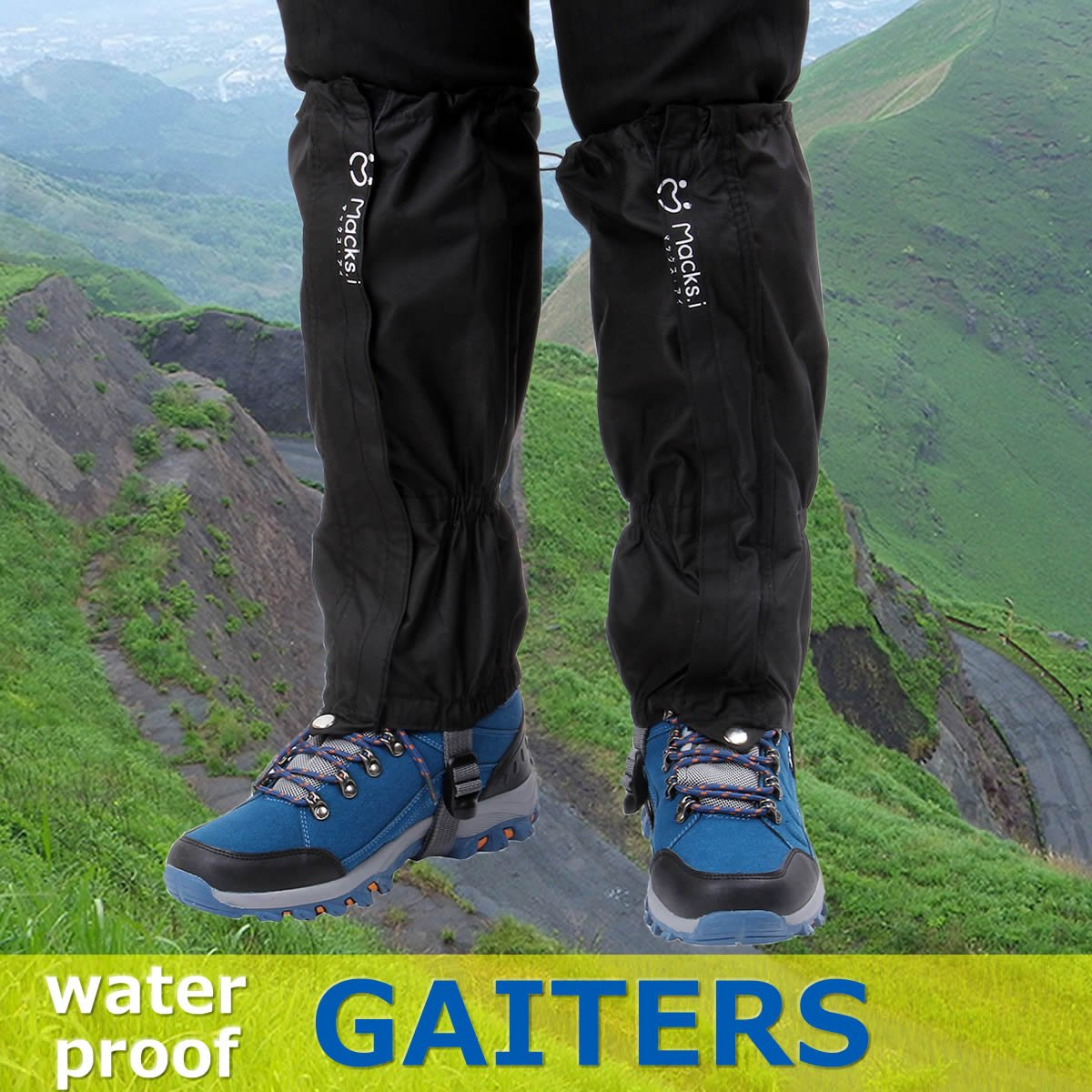 Macks.i Outdoor Unisex Waterproof Camping Hiking Gaiters High Leg Cover 1pair with a Free Shoe Bag by Macks.i (Image #2)