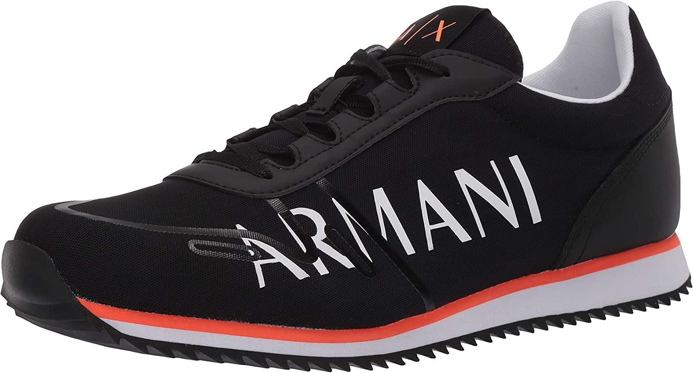 Armani Exchange Retro Running Sneakers, Zapatillas para Hombre, Negro (Black+White Logo 00002), 41.5 EU: Amazon.es: Zapatos y complementos