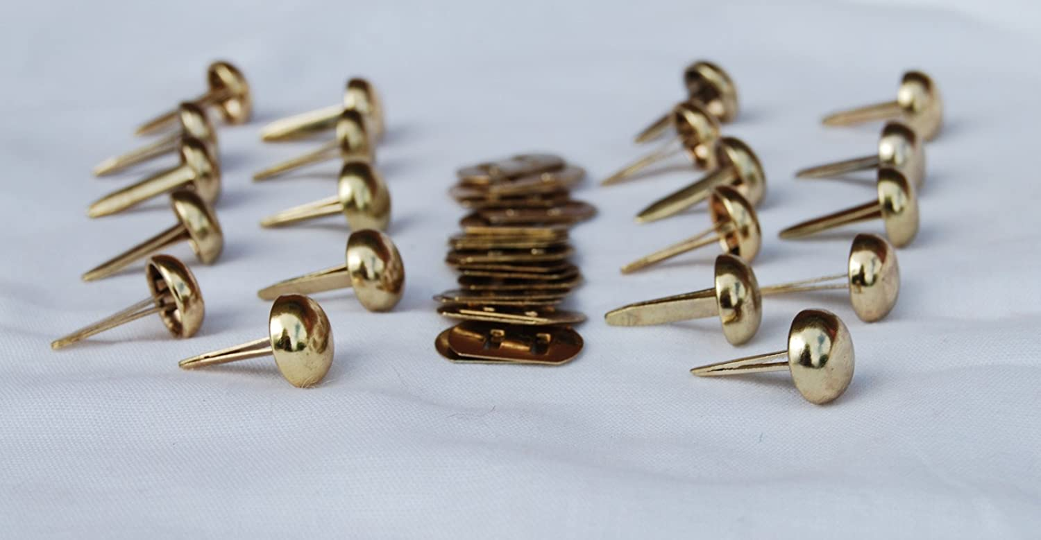 Bag making /& Crafts celloexpress Pack of 4-12mm GOLD ROUND with BACKS Round Bottom Handbag Studs Bag /& Purse Feet with Backs
