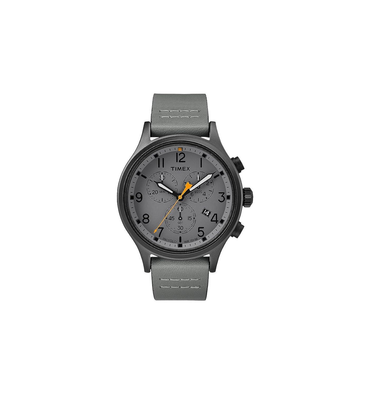Timex Allied Chrono Gray Leather Strap/Grey Dial TW2R47400 -
