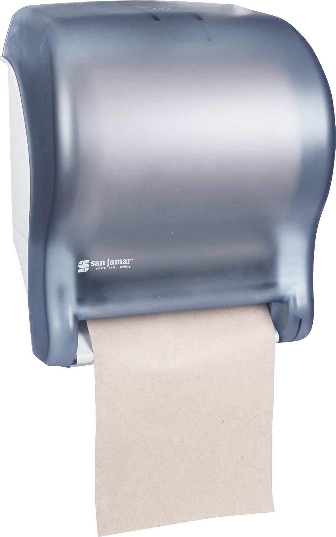11-3//4 Width x 14-7//16 Height x 9-1//8 Depth San Jamar T8000 Tear-N-Dry Essence Towel Dispenser Fits 8 Wide Roll White