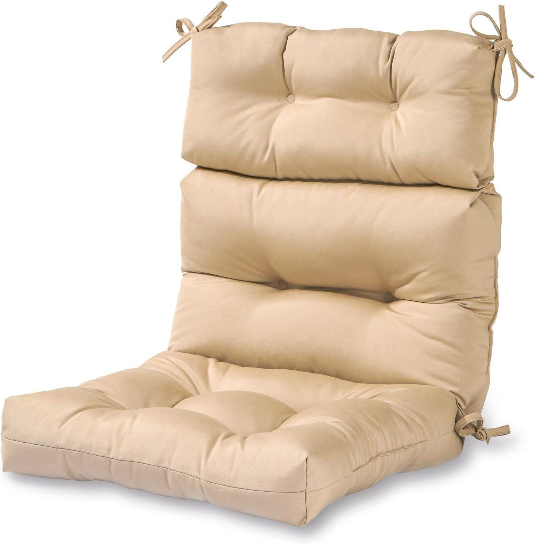Greendale Home Fashions AZ4809-STONE Sanddollar 44'' x 22'' Outdoor Seat/Back Chair Cushion