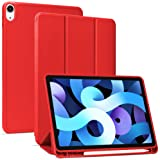 Arae for iPad Air 4 Case 10.9 inch [4th Generation] [Corner Protection] Multi-Angle Viewing with Pencil Holder, Kickstand Fea