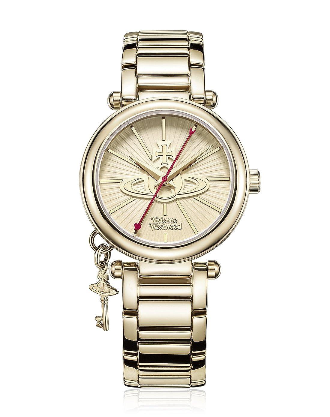 f20421c15d3 Amazon.com: Vivienne Westwood Women's VV006KGD Kensington II Analog Display  Swiss Quartz Gold Watch: Watches