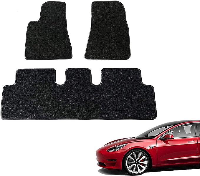 Topfit Model 3 Auto Fußmatten Set Gummi Klassische Allwetter Fußmatten Für Model 3 Auto