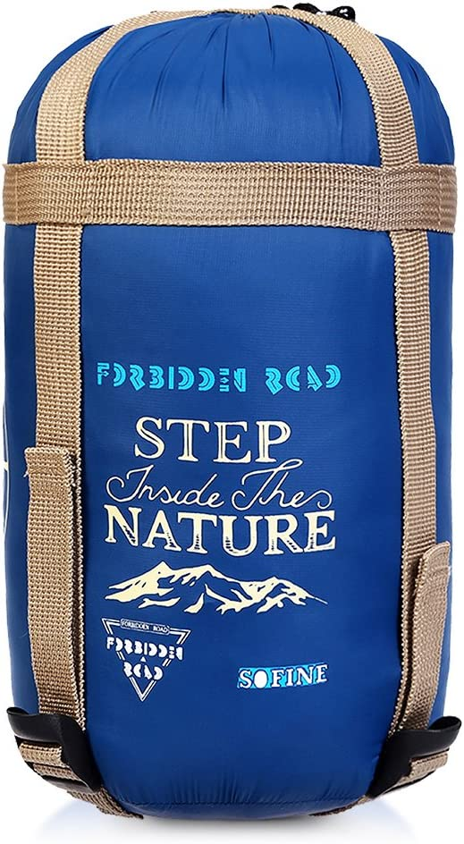Forbidden Road 4 Season Sleeping Bag 0 30 5 Colors 380T Nylon Portable Single Sleep Bag Lightweight Water Resistant Envelope for Man Woman Camping Hiking Backpacking – Compression Bag Included