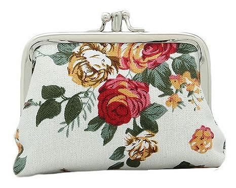 La vogue Monedero Cartera Billetera Pequeño para Mujer Estampado Flor Búho